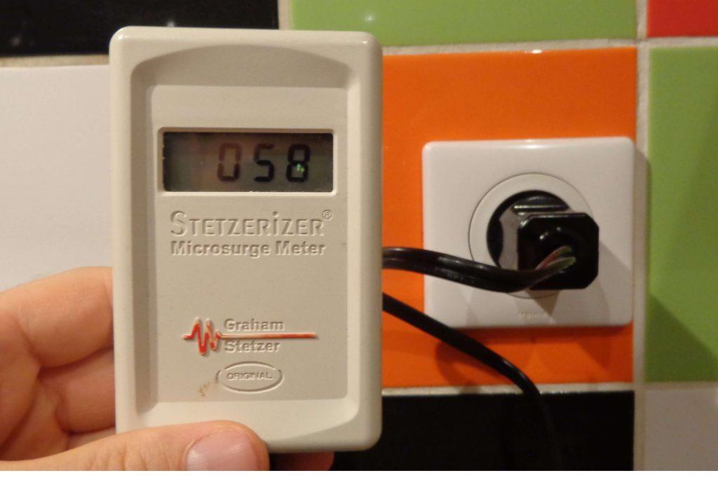 mesure dirty electricity avec le mesureur stetzer